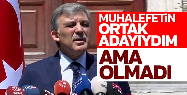 Muhalefetin Abdullah Gül planı tutmadı