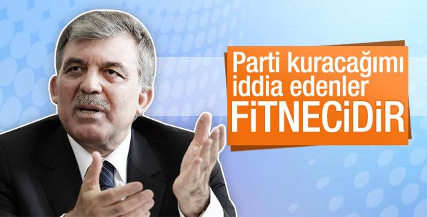 Abdullah Gül'den parti kuracak iddialarına yanıt