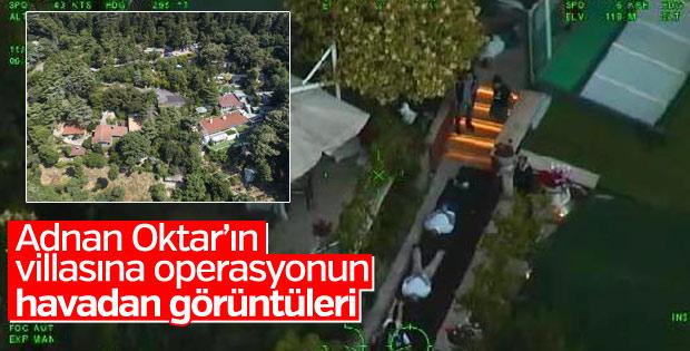 Adnan Oktar'ın villasına baskının havadan görüntüleri