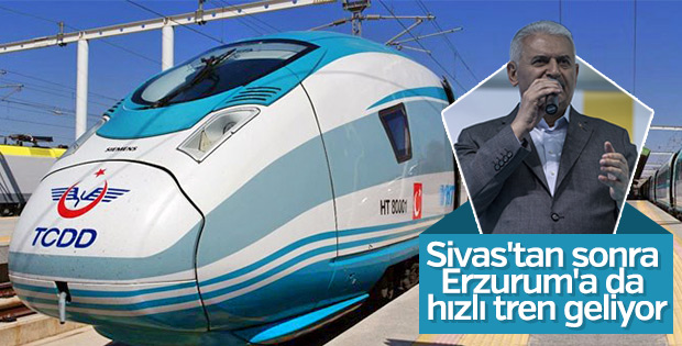 Başbakan Yıldırım'dan Erzurum'a raylı sistem müjdesi