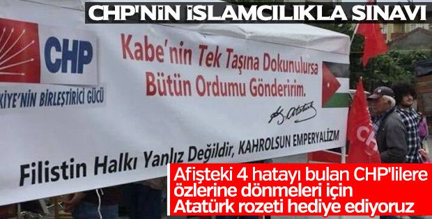 CHP'nin Filistin afişinde skandal hatalar