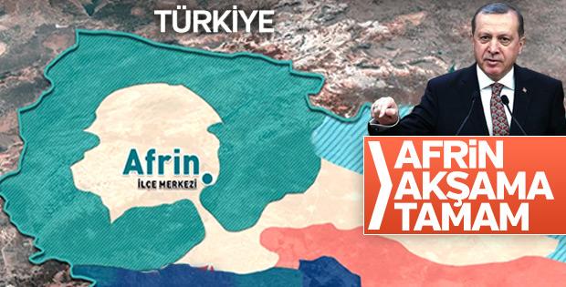 Cumhurbaşkanı Erdoğan açıkladı: Afrin'de sona doğru