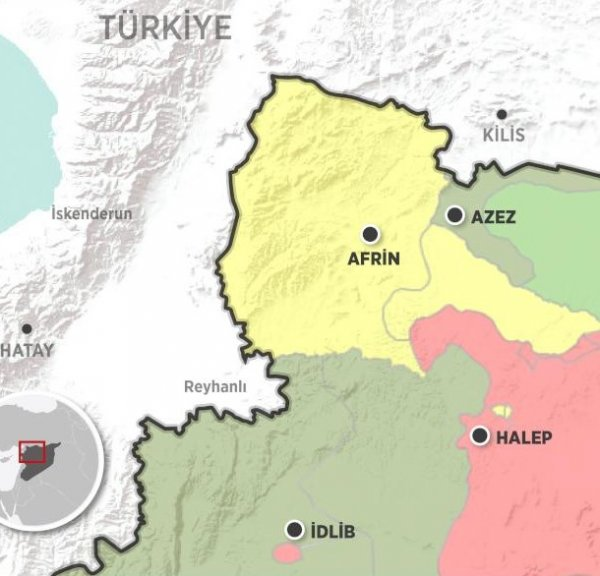 Afrin'den sivil göçü başladı