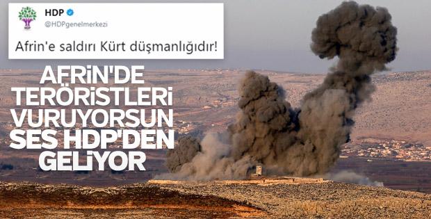 HDP Afrin operasyonu sırasında PKK'lılara ağlıyor