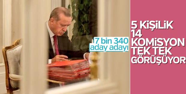 AK Parti'de 7 bin 340 aday adayı değerlendiriliyor