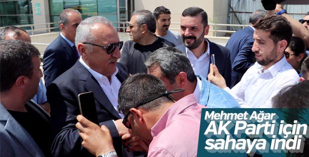 Mehmet Ağar AK Parti için sahada
