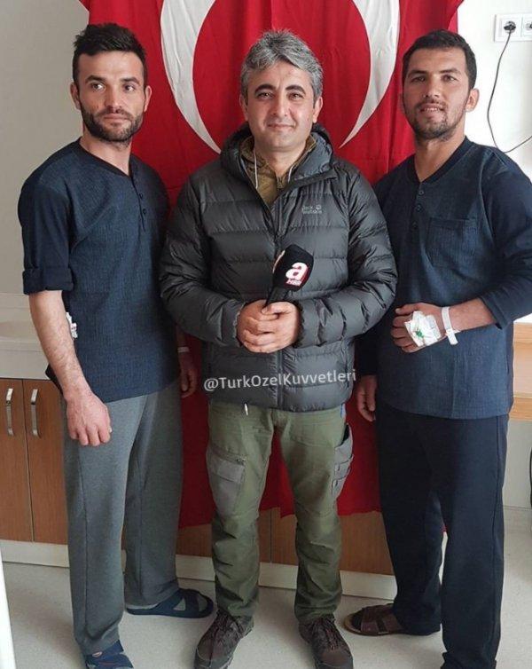 Afrin'de yaralanan iki asker birbirine güç verdi