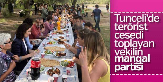 HDP'liler Tunceli'de mangal partisinde buluştu