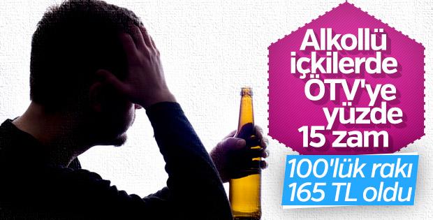 Alkollü içkiye yüzde 15 ÖTV zammı