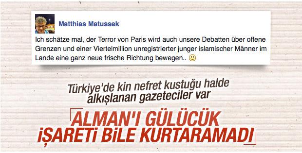 Ünlü Alman gazeteci Paris katliamına gülünce kovuldu