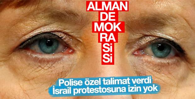 Merkel ülkesindeki İsrail protestolarına karşı