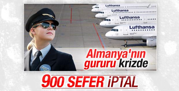Lufthansa'da yeniden grev: 900 uçuş iptal