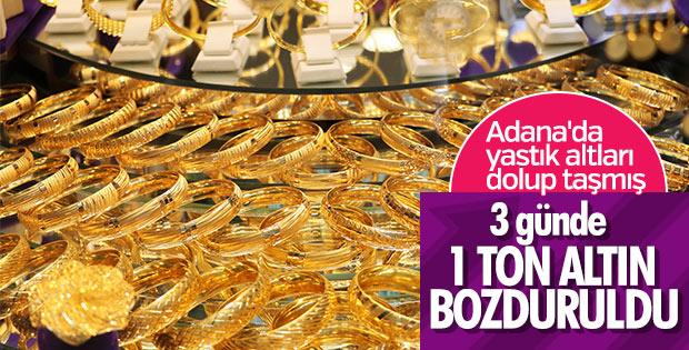 Adanalılar 3 günde 1 ton altın bozdurdu
