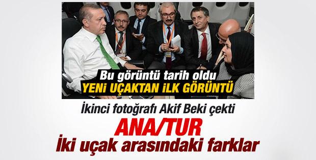 Cumhurbaşkanı Erdoğan'ın yeni uçağından ikinci görüntü