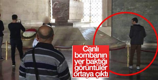 Canlı bombanın keşif görüntüsü kameraya yansıdı