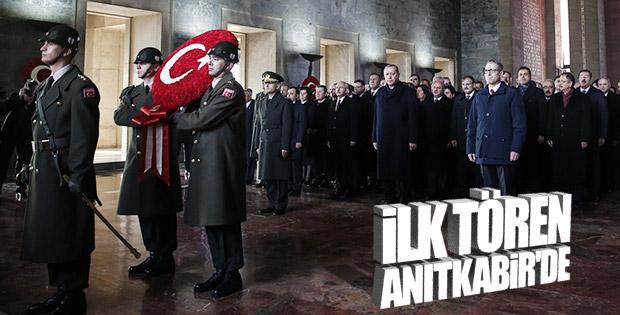 Anıtkabir'de Atatürk'e saygı duruşu