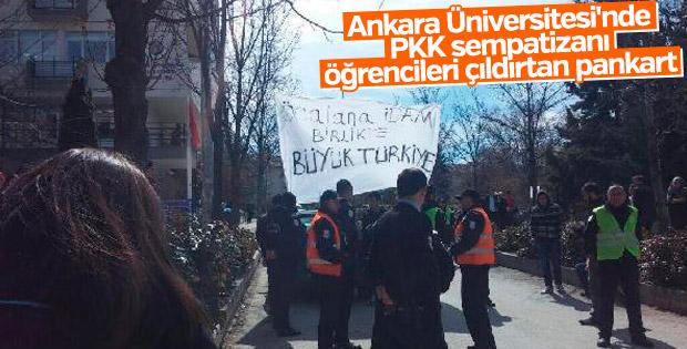 Ankara Üniversitesi'nde pankart gerginliği