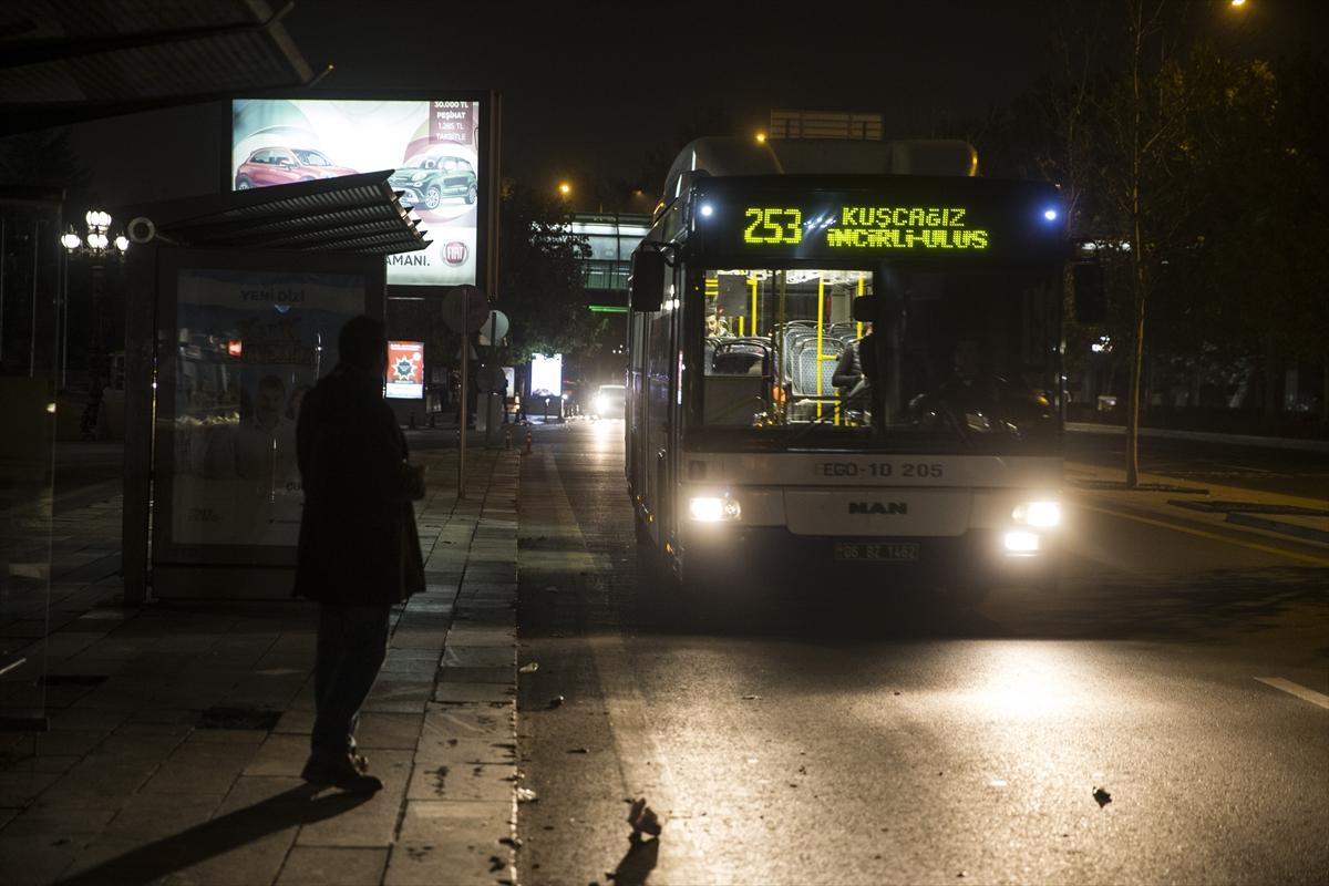 Ankara'da gece seferleri başladı