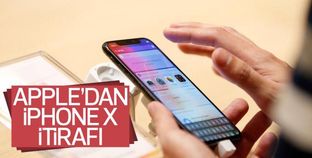Apple'dan iPhone X itirafı