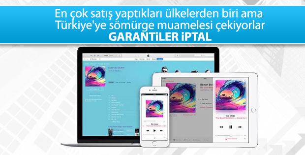 Apple Türkiye'yi uluslararası garanti listesinden çıkardı