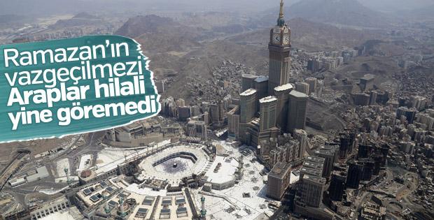 Ramazan hilalini göremeyen Arap dünyası oruç tutmayacak