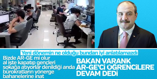 Bakan Varank, Ar-Ge laboratuvarının kapanmasını engelledi