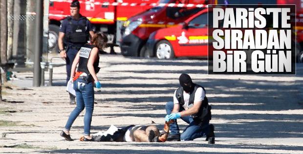Paris'te polis aracına saldırı