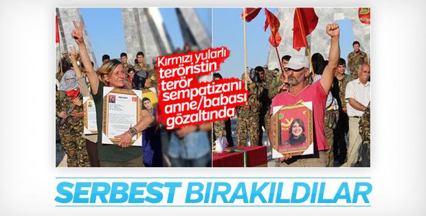 Kırmızı fularlı teröristin anne ve babası serbest