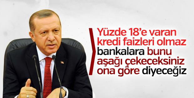 Cumhurbaşkanı Erdoğan'dan kredi faizleri açıklaması