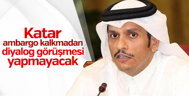 Katar'dan ambargo açıklaması