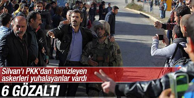 Silvan'da askere hakaret eden 6 kişi gözaltında