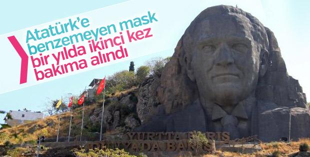 42 metrelik Atatürk maskı bakımda