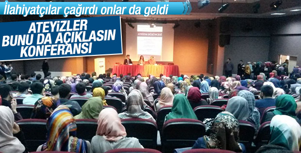 Ateistler ilahiyat fakültesindeki konferansa katıldı