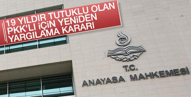 19 yıldır tutuklu olan PKK'lı yeniden yargılanacak