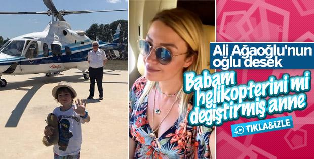 Ali Ağaoğlu, oğlu için Alaçatı'ya helikopter gönderdi