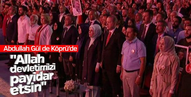 Abdullah Gül'ün 15 Temmuz mesajı