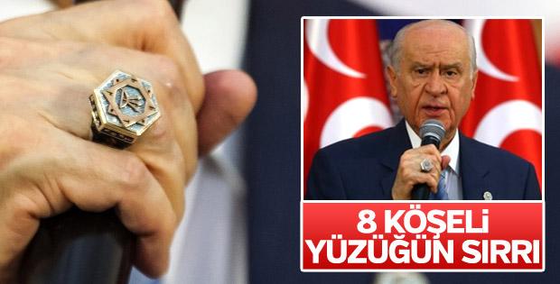 Devlet Bahçeli'nin 8 köşeli yüzüğü dikkat çekti
