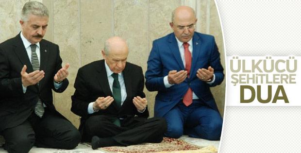 Devlet Bahçeli Ülkücü şehitler için dua etti