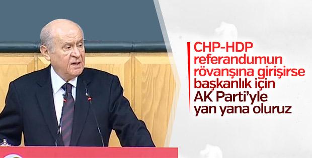 Bahçeli'den AK Parti ile iş birliği mesajı