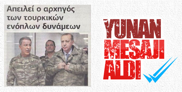 Hulusi Akar'ın açıklamaları Yunan medyasında