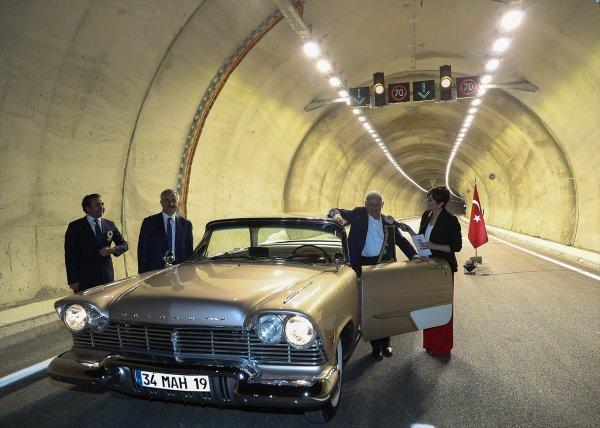 Sabuncubeli Tüneli'nden ilk geçiş