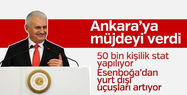 Başbakan'dan Ankara'ya stat ve uçuş müjdesi