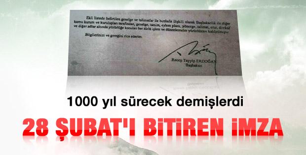 Başbakan Erdoğan 28 Şubat'ı bitirdi