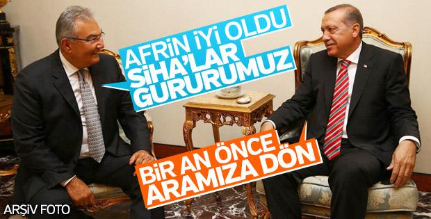 Deniz Baykal, Erdoğan'ı Afrin için tebrik etti
