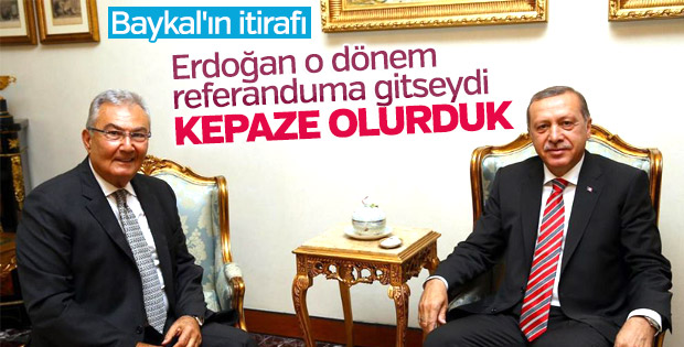 Deniz Baykal'dan Erdoğan itirafı