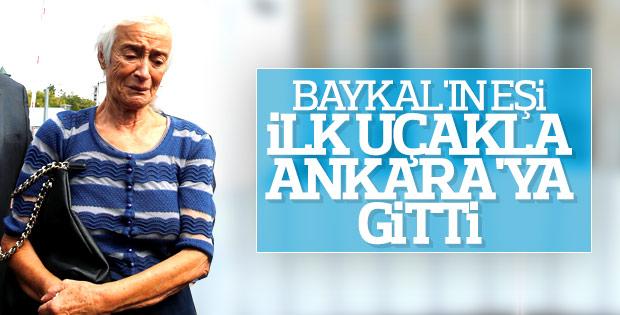 Deniz Baykal'ın eşi Olcay Baykal Ankara'ya gitti