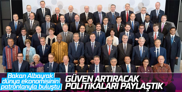 Bakan Berat Albayrak'ın G-20 paylaşımı
