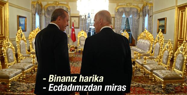 Biden'la Erdoğan'ın Mabeyn Köşkü diyaloğu