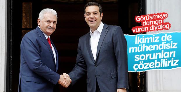 Başbakan Yıldırım ile Çipras arasında 'mühendis' diyaloğu