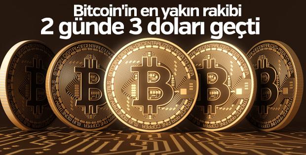 Bitcoin'in en yakın rakibi 2 günde 3 doları geçti